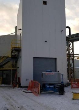exterior of paste plant facility